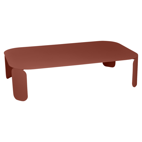 Niedriger Tisch Bebop 120x70, H29, Ockerrot
