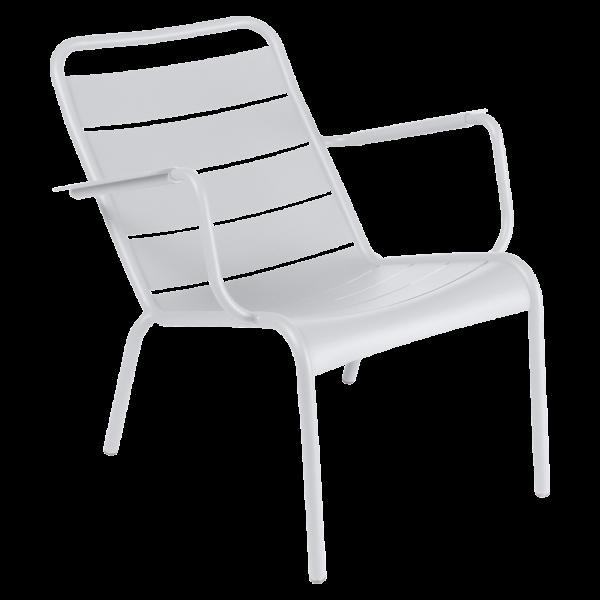 Niedriger Sessel Luxembourg Baumwollweiß
