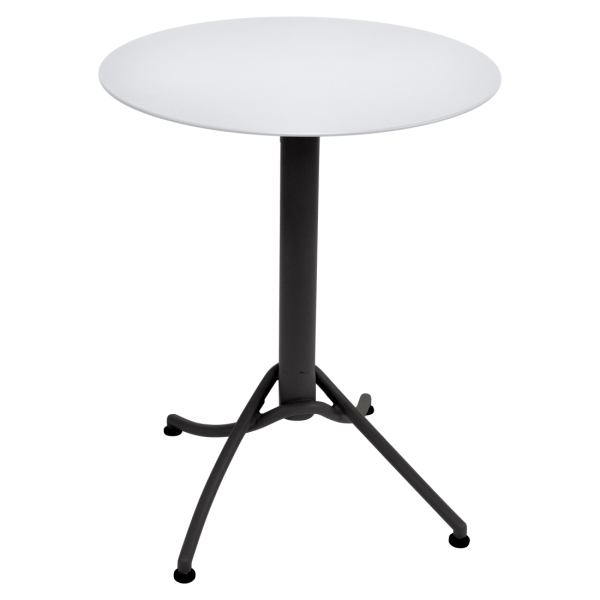 Zweifarbiger Tisch Ø 60 cm Ariane Baumwollweiß