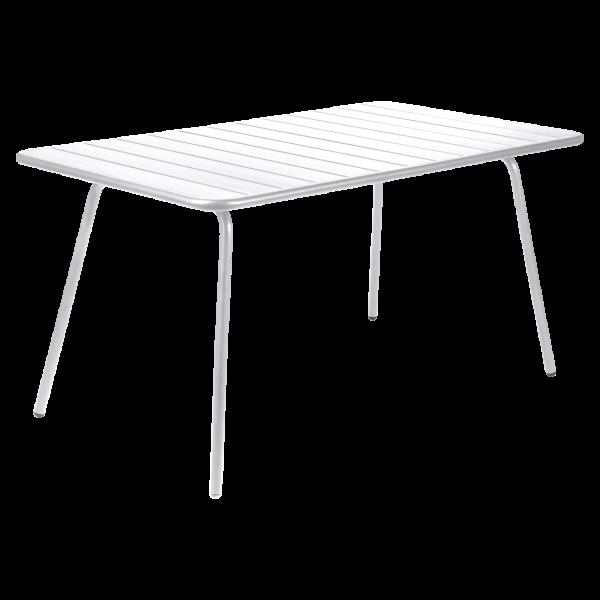 Tisch 143 x 80 cm Luxembourg Baumwollweiß