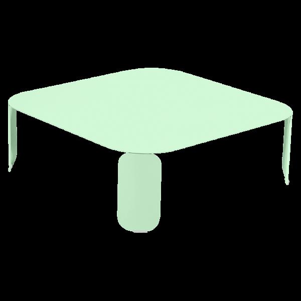 Niedriger Tisch Bebop 90x90, H29 Opalgrün