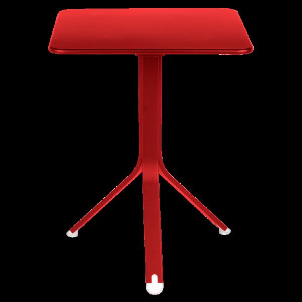 Rest`o Tisch 57 x 57 cm Mohnrot