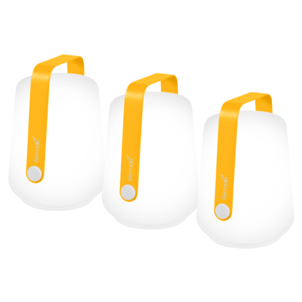 Set mit 3 Lampen H. 12 cm Balad Honig