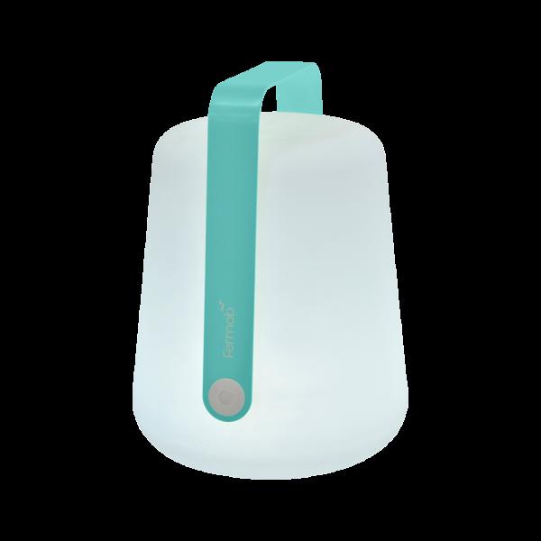 Lampe H.38 cm Balad Lagunenblau