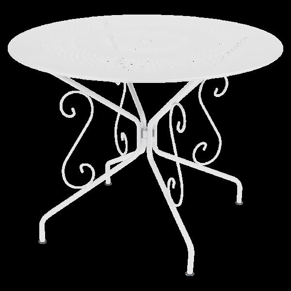 Tisch Ø 96 cm Montmartre Baumwollweiß