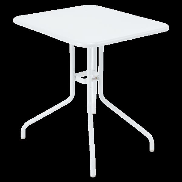 Tisch 60 x 70 cm Pétale Baumwollweiß
