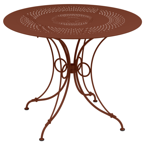 1900 Tisch Ø 96 cm Ockerrot