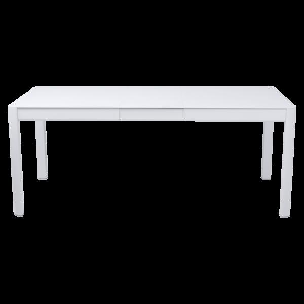 Tisch 149/191 x 100 cm Ribambelle Baumwollweiß