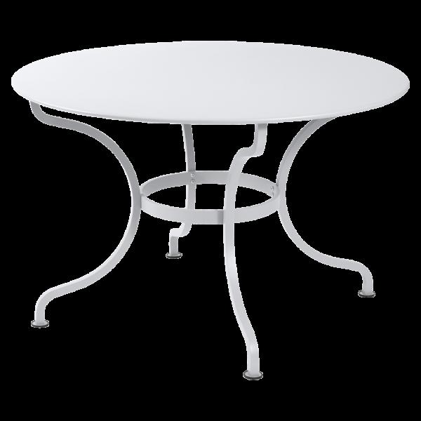 Tisch Ø 117 cm Romane Baumwollweiß