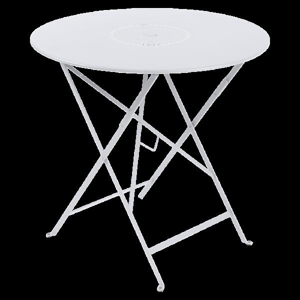 Tisch Ø 77 cm Floréal Baumwollweiß