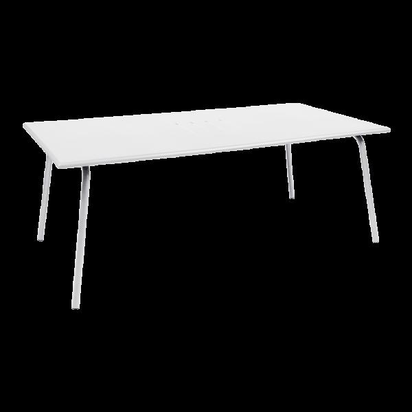 Tisch 194 x 94 cm Monceau Baumwollweiß