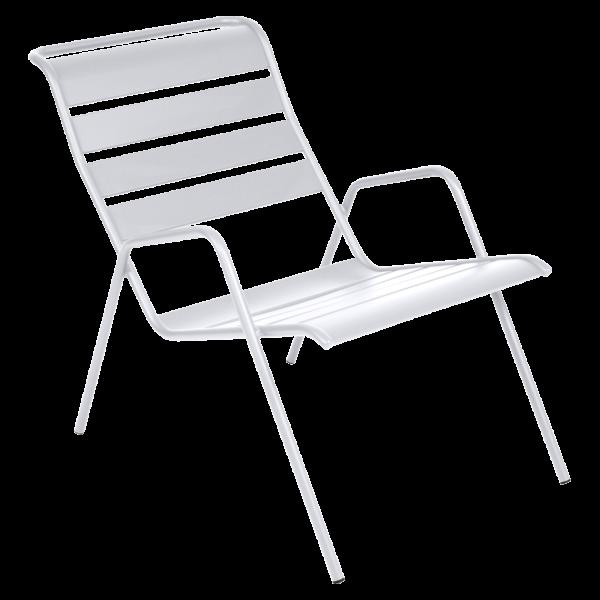 Niedriger Sessel Monceau Baumwollweiß