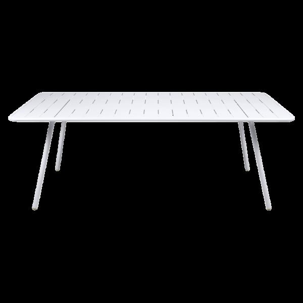 Tisch 207 x 100 cm Luxembourg Baumwollweiß