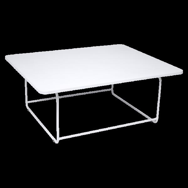 Niedriger Tisch Ellipse Baumwollweiß