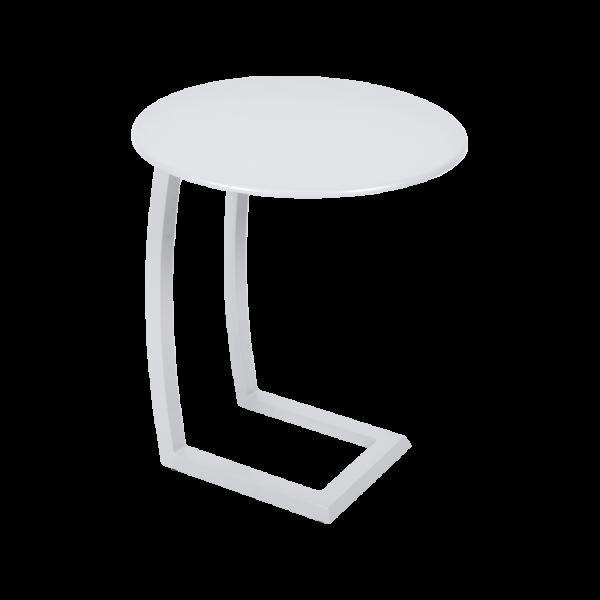 Alizé asymmetrischer niedriger Tisch Baumwollweiß