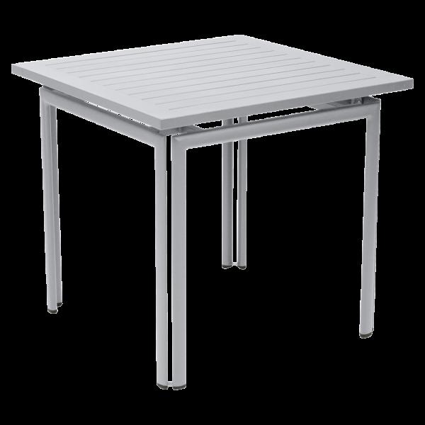 Tisch 80 x 80 cm Costa Baumwollweiß