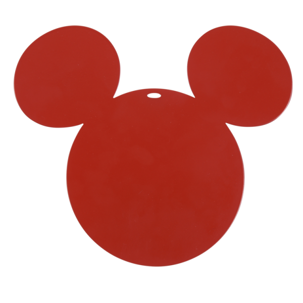 Untersetzer Mickey Mouse Mohnrot