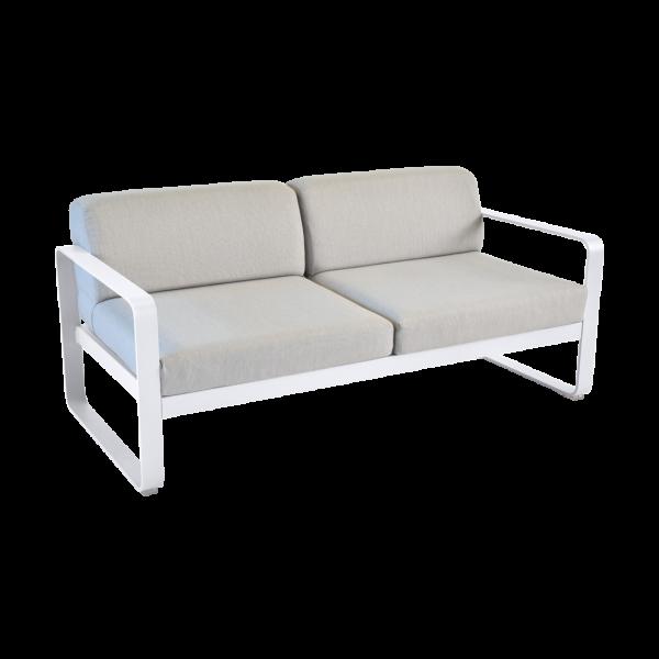 Sofa - Flanellgrau Kissen Bellevie Baumwollweiß