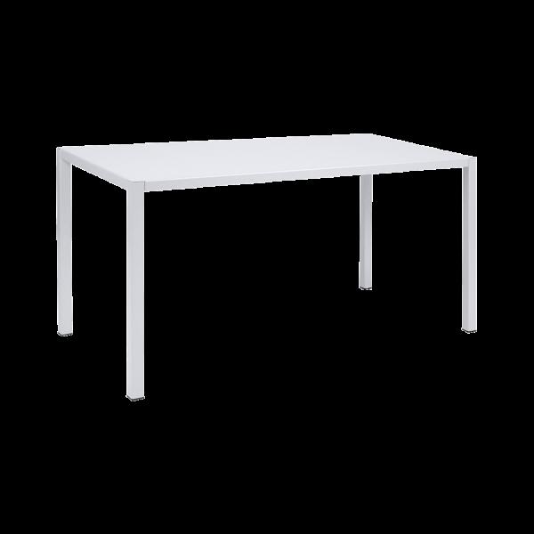 Tisch 140 x 70 cm Inside Out Baumwollweiß