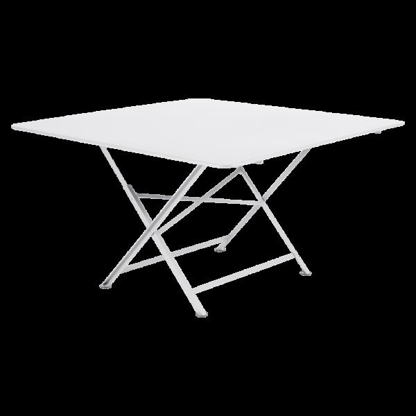 Tisch 128 x 128 cm Cargo Baumwollweiß