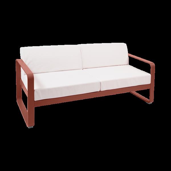 Sofa - Grauweiss Kissen Bellevie Ockerrot