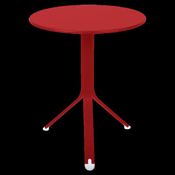 Rest`o Tisch Ø 60 cm Mohnrot