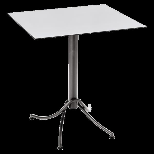 Zweifarbiger Tisch 60 x 70 cm Ariane Baumwollweiß