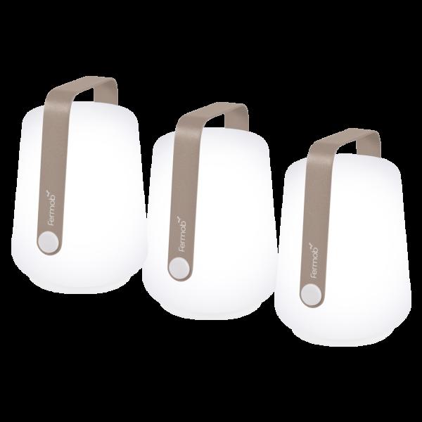 Set mit 3 Lampen H. 12 cm  Balad Muskat
