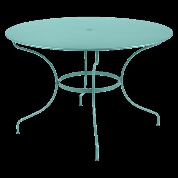 Tisch Ø 117 cm Opéra Lagunenblau
