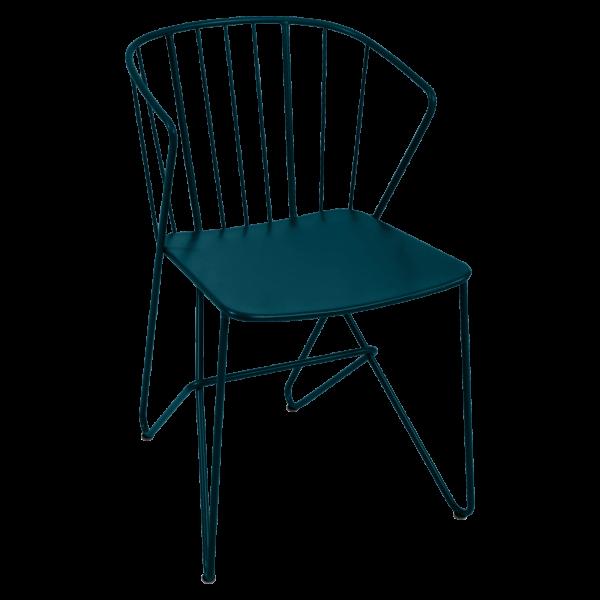 Sessel ohne Blumenmuster im Sitz Flower Acapulcoblau