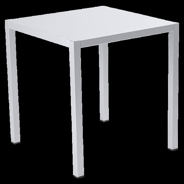 Tisch 70 x 70 cm Inside Out Baumwollweiß