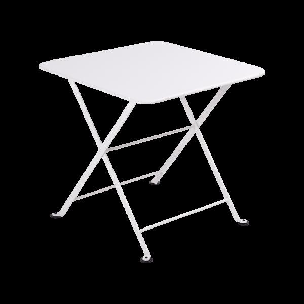 Niedriger Tisch 50 x 50 cm Tom Pouce Baumwollweiß