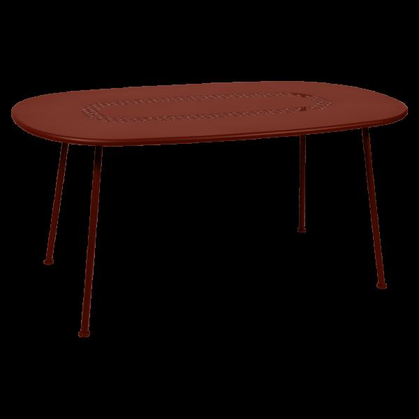 Lorette, Ovaler Tisch, 160 x 90 Ockerrot