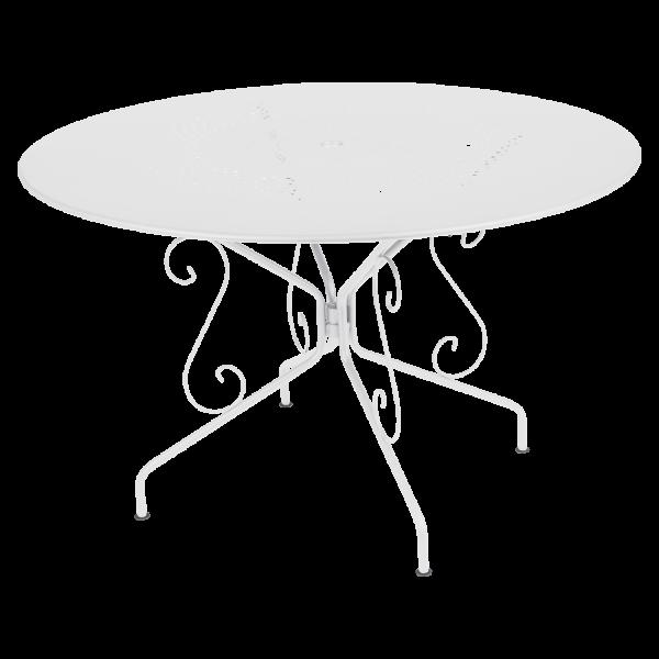 Tisch Ø 117 cm Montmartre Baumwollweiß