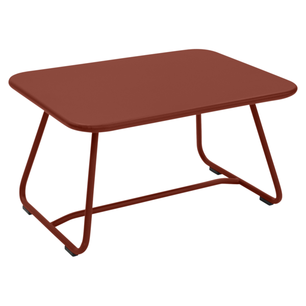 Niedriger Tisch Sixties Ockerrot