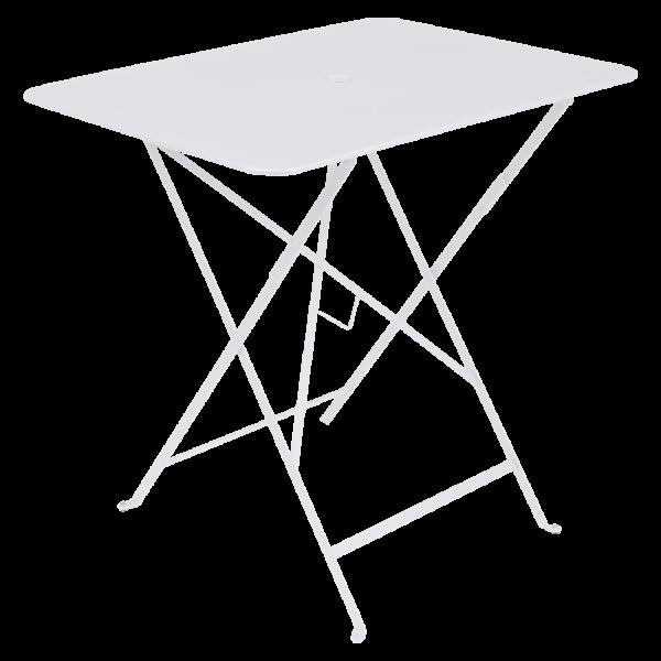 Tisch 77 x 57 cm Bistro Baumwollweiß