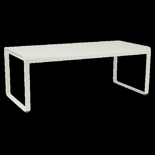 Tisch 196 x 90 cm Bellevie Lehmgrau