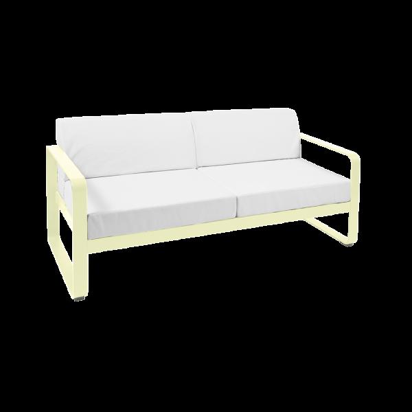 Sofa - Grauweiss Kissen Bellevie Zitronensorbet