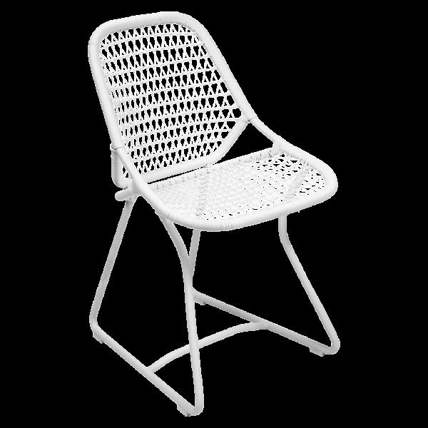 Stuhl Sixties Baumwollweiß