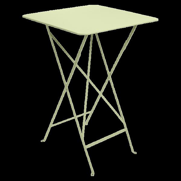 Hoher Tisch 71 x 71 cm Bistro Lindgrün