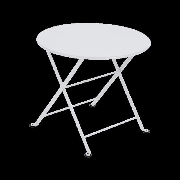 Niedriger Tisch Ø 55 cm Tom Pouce Baumwollweiß