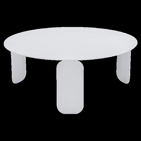 Bebop Niedriger runder Tisch 80cm Baumwollweiß