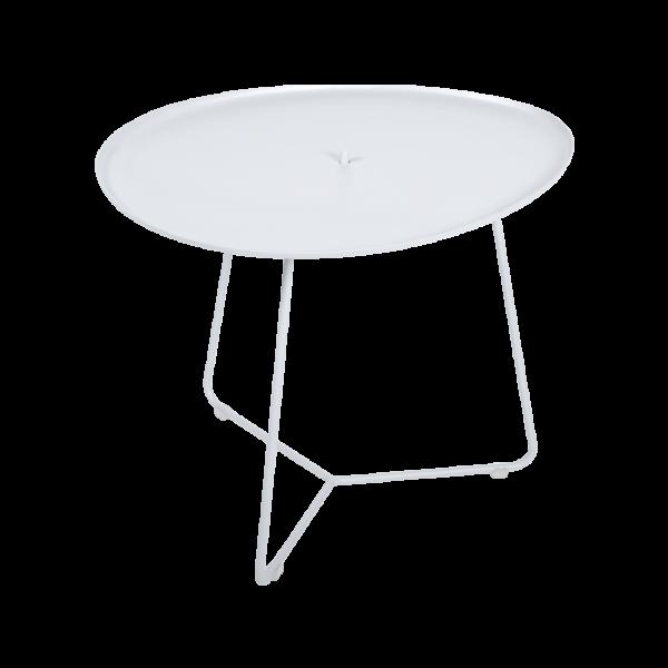 Cocotte, niedriger Tisch, abnehmbare Platte Baumwollweiß