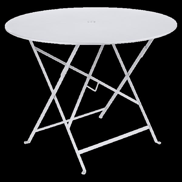 Tisch Ø 96 cm Bistro Baumwollweiß