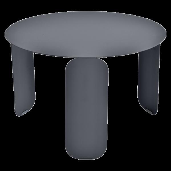 Bebop niedriger runder Tisch 60cm Anthrazit