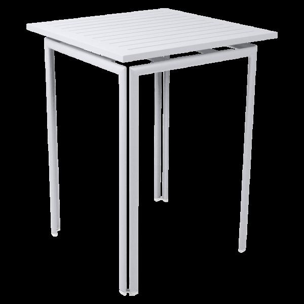 Hoher Tisch 80 x 80 cm Costa Baumwollweiß