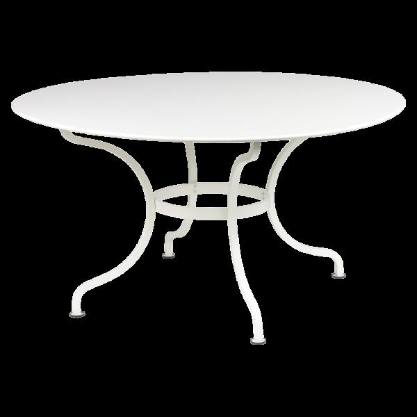 Tisch Ø 137 cm Romane Baumwollweiß