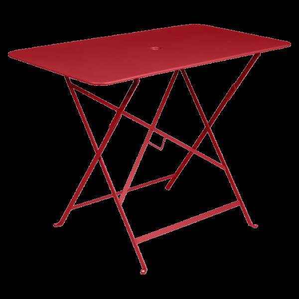 Tisch 97 x 57 cm Bistro Mohnrot
