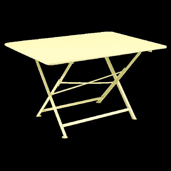 Tisch 128 x 90 cm Cargo Zitronensorbet