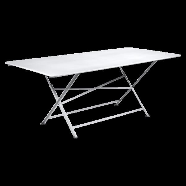 Tisch 190 x 90 cm Cargo Baumwollweiß